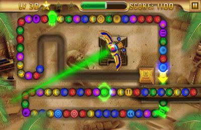 Screenshots vom Spiel Eygpt Zuma – Treasures of Anubis für iPhone, iPad oder iPod.