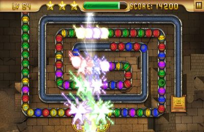 Écrans du jeu Eygpt Zuma – Treasures of Anubis pour iPhone, iPad ou iPod.