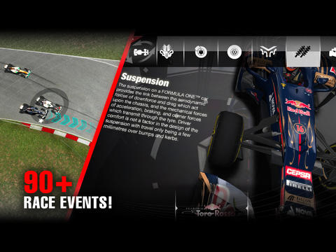 Screenshots of the F1 Challenge game for iPhone, iPad or iPod.