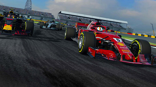 Screenshots do jogo F1 mobile racing para iPhone, iPad ou iPod.