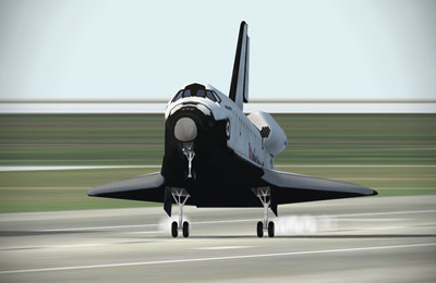 Screenshots of the F-Sim Space Shuttle game for iPhone, iPad or iPod.