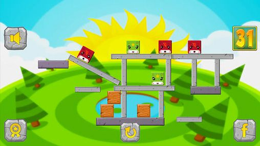 Screenshots of the Falling cube: Saga game for iPhone, iPad or iPod.