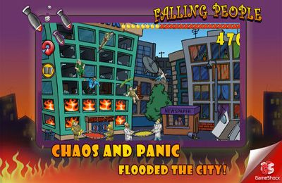 Screenshots of the Falling People game for iPhone, iPad or iPod.