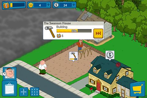 Écrans du jeu Family guy: The quest for stuff pour iPhone, iPad ou iPod.