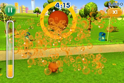 Screenshots of the Fanta: Fruit slam game for iPhone, iPad or iPod.