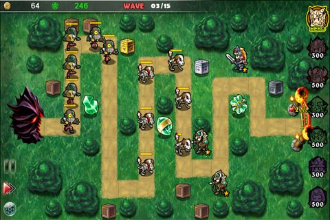 Capturas de pantalla del juego Fantasy defense para iPhone, iPad o iPod.