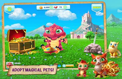 Screenshots vom Spiel Fantasy Town — Enter a Magic Village! für iPhone, iPad oder iPod.