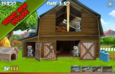 Screenshots of the Farm Destroy: Alien Zombie Attack game for iPhone, iPad or iPod.