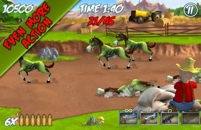 Screenshots vom Spiel Farm Destroy: Alien Zombie Attack für iPhone, iPad oder iPod.