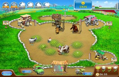 Screenshots vom Spiel Farm Frenzy 2: Pizza Party HD für iPhone, iPad oder iPod.