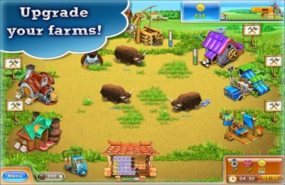Screenshots of the Farm Frenzy 3 HD game for iPhone, iPad or iPod.