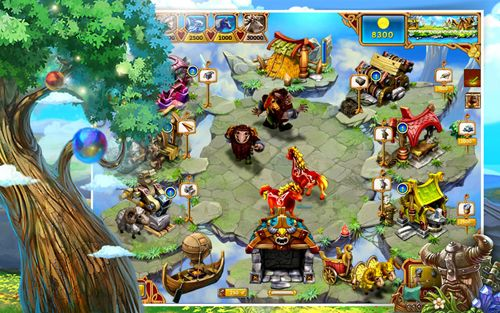 iPhone、iPad または iPod 用Farm frenzy: Viking heroesゲームのスクリーンショット。