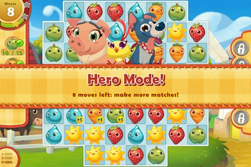 Screenshots of the Farm heroes: Saga game for iPhone, iPad or iPod.
