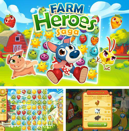 In addition to the game Demolition Dash HD for iPhone, iPad or iPod, you can also download Farm heroes: Saga for free.
