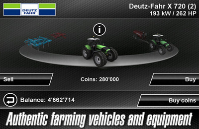Screenshots of the Farming Simulator 2012 game for iPhone, iPad or iPod.