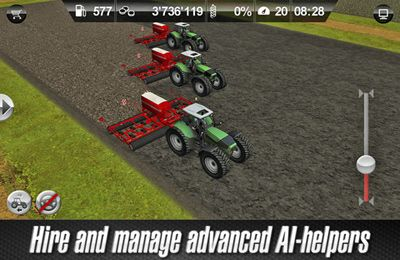 Capturas de pantalla del juego Farming Simulator 2012 para iPhone, iPad o iPod.