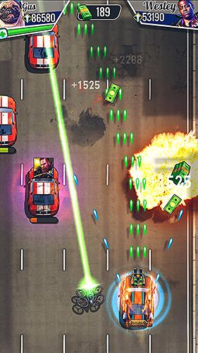 Screenshots of the Fastlane: Road to revenge game for iPhone, iPad or iPod.