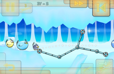Écrans du jeu Fat Birds Build a Bridge! pour iPhone, iPad ou iPod.