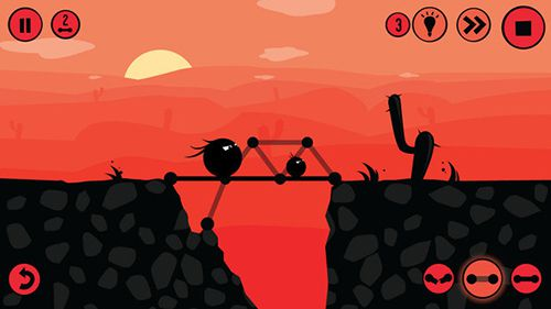 Kostenloser Download von Fat dots: Bridge builder für iPhone, iPad und iPod.