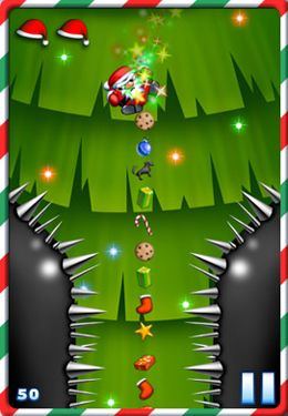 Screenshots of the Fat Roll Santa game for iPhone, iPad or iPod.
