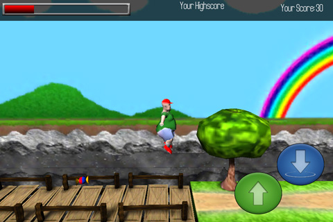 Free Fatty jump download for iPhone, iPad and iPod.