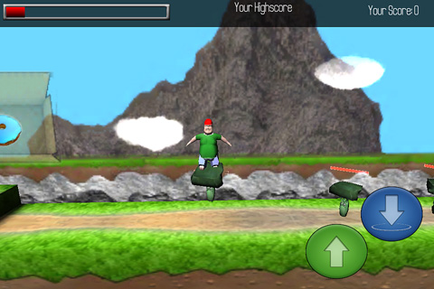 Screenshots of the Fatty jump game for iPhone, iPad or iPod.