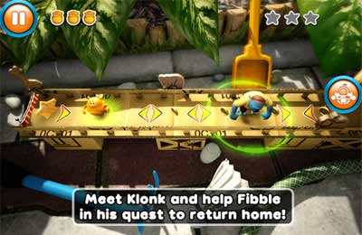 Screenshots of the Fibble game for iPhone, iPad or iPod.