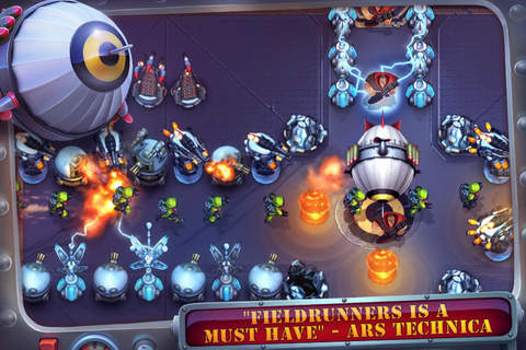 Descarga gratuita de Fieldrunners para iPhone, iPad y iPod.