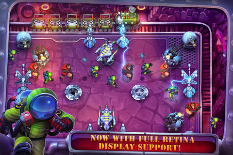 Capturas de pantalla del juego Fieldrunners para iPhone, iPad o iPod.