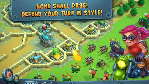 Screenshots of the Fieldrunners: Hardhat heroes game for iPhone, iPad or iPod.