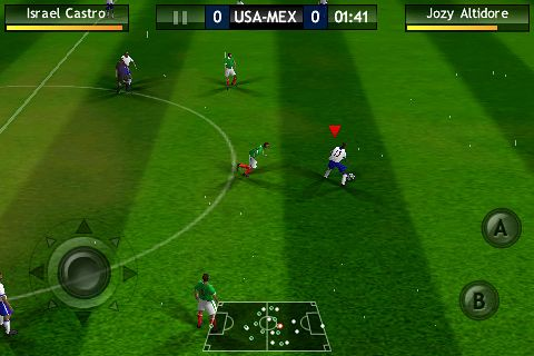 Capturas de pantalla del juego FIFA 10 para iPhone, iPad o iPod.