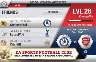 Écrans du jeu FIFA 13 by EA SPORTS pour iPhone, iPad ou iPod.