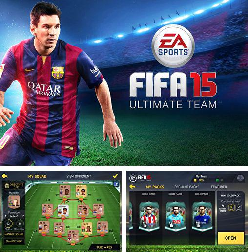 In addition to the game Candy booms for iPhone, iPad or iPod, you can also download FIFA 15: Ultimate team for free.