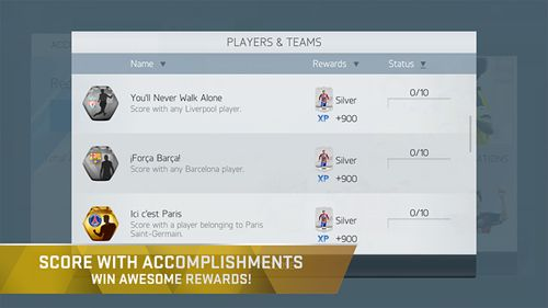 Screenshots do jogo FIFA 16: Ultimate team para iPhone, iPad ou iPod.