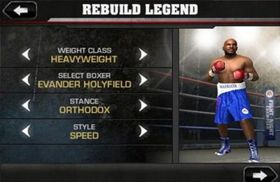 Screenshots of the Fight Night Champion game for iPhone, iPad or iPod.