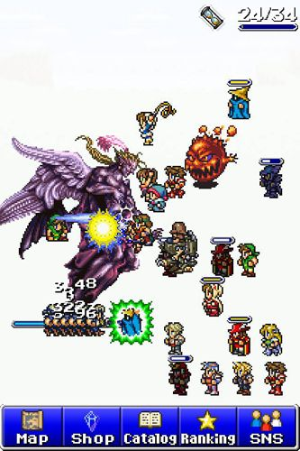 Screenshots of the Final fantasy: All the bravest game for iPhone, iPad or iPod.