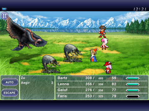 Descarga gratuita de Final Fantasy V para iPhone, iPad y iPod.