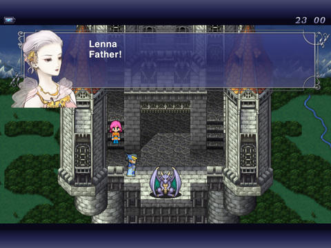 Écrans du jeu Final Fantasy V pour iPhone, iPad ou iPod.