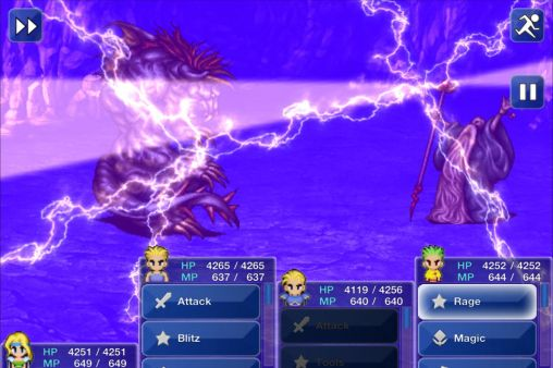 Écrans du jeu Final fantasy VI pour iPhone, iPad ou iPod.