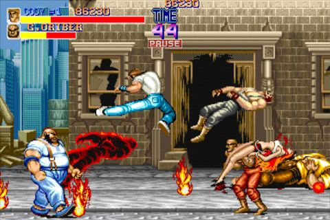 Screenshots of the Final fight game for iPhone, iPad or iPod.