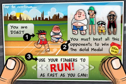 Download Finger olympic iPhone free game.