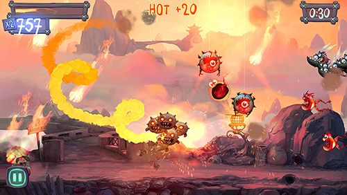 Screenshots of the Fire Fu game for iPhone, iPad or iPod.