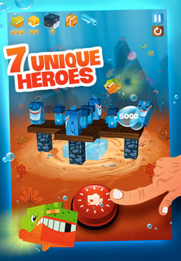 Capturas de pantalla del juego Fish Heroes para iPhone, iPad o iPod.