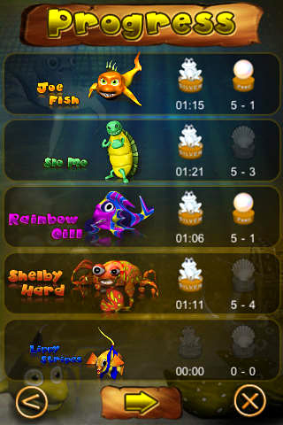 Screenshots of the Fish soccer: Shootout game for iPhone, iPad or iPod.