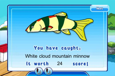 Screenshots vom Spiel Fishing fun für iPhone, iPad oder iPod.