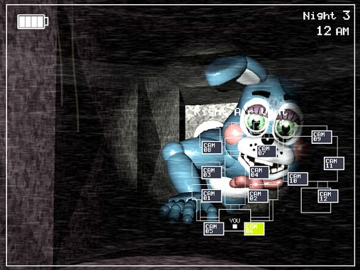 Screenshots of the Five nights at Freddy's 2 game for iPhone, iPad or iPod.