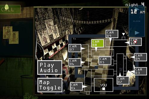 Écrans du jeu Five nights at Freddy's 3 pour iPhone, iPad ou iPod.