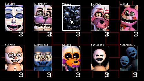 iPhone、iPad または iPod 用Five nights at Freddy's: Sister locationゲームのスクリーンショット。