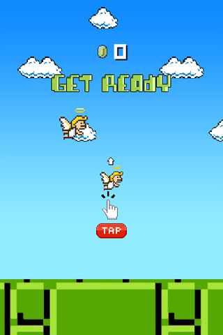 Download Flappy angel iPhone free game.