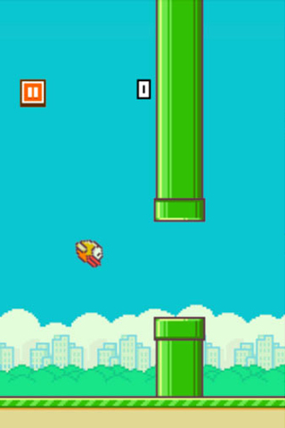 Screenshots do jogo Flappy bird para iPhone, iPad ou iPod.